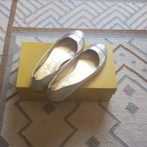 Cecilia metallic-leather ballet flats